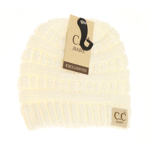 BABY Solid CC Beanie - Ivory