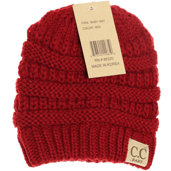 BABY Solid CC Beanie - Red