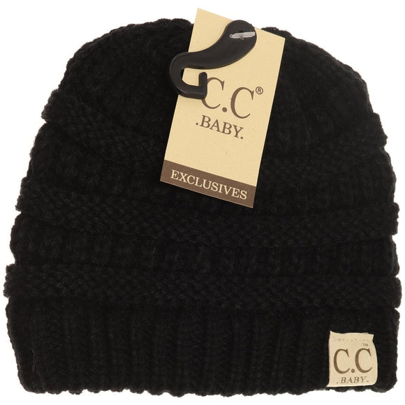 BABY Solid CC Beanie - Black