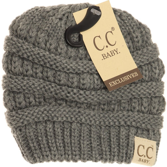BABY Solid CC Beanie - Light Gray