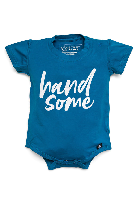 Handsome Blue Graphic Onesie