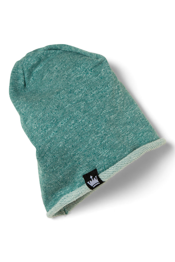 Easy Emerald French Terry Beanie