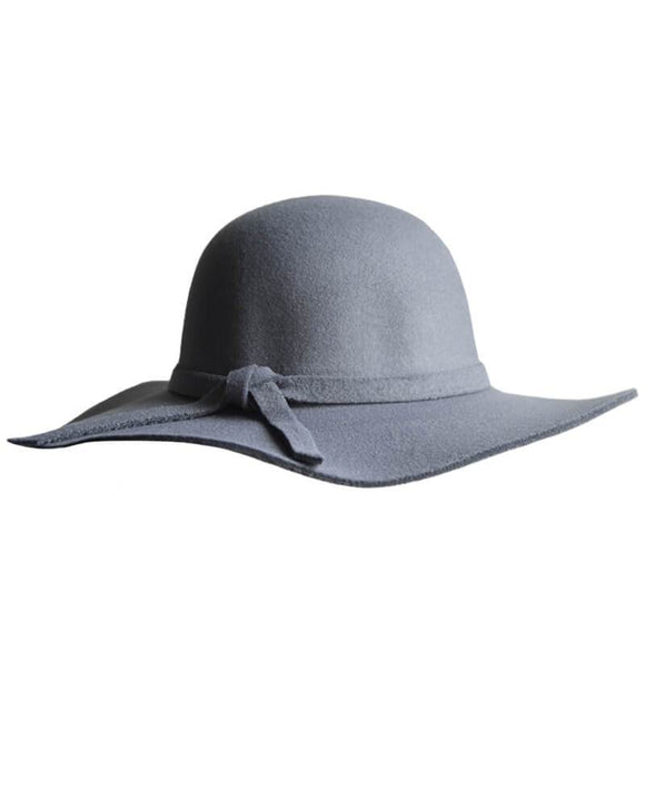 Audrey Floppy Hat - Gray