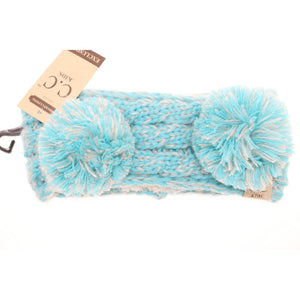 KIDS Multi-tone Double Pom Head Wrap - Mint