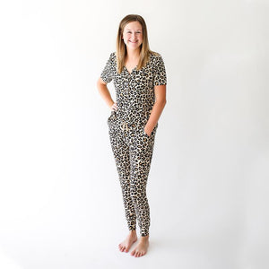 Posh Peanut - Lana Leopard Tan - Women Short Sleeve Loungewear