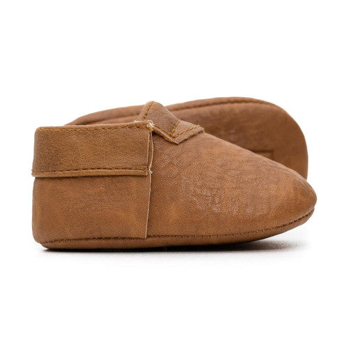 Sweet N Swag Meerkat Modern Mox Leather Baby Moccasin