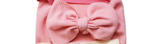 MILA MESSY BOW HEADBAND - PINK PASSION - CORAL