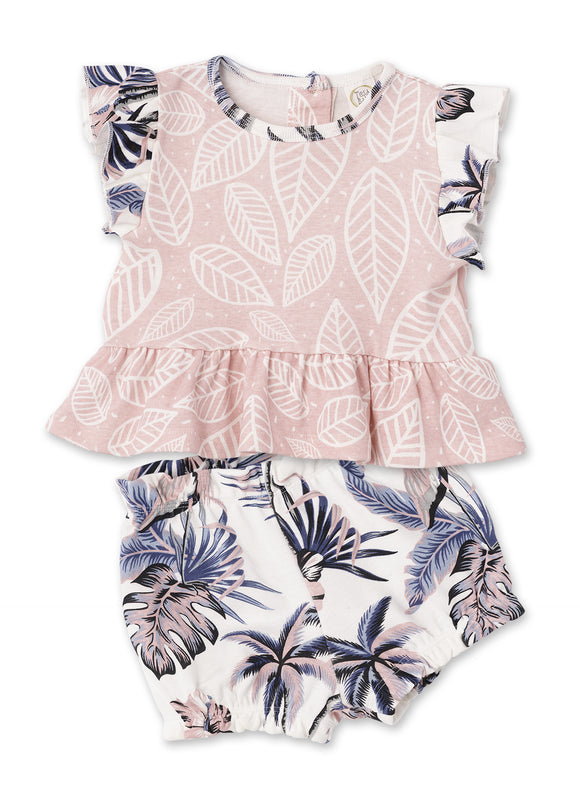 Tesa Babe Hawaiiana Flare Top and Bloomers