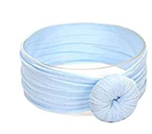 Girls Knot Headband - Light Blue