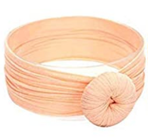Girls Knot Headband - Peach