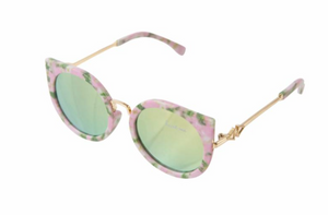 Pink Floral Cat Eye Sunglasses