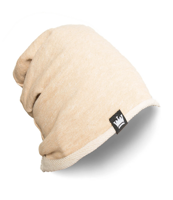 Sandy Tan French Terry Beanie