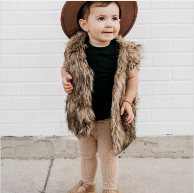 Barnum Fur Vest - Boho Brown