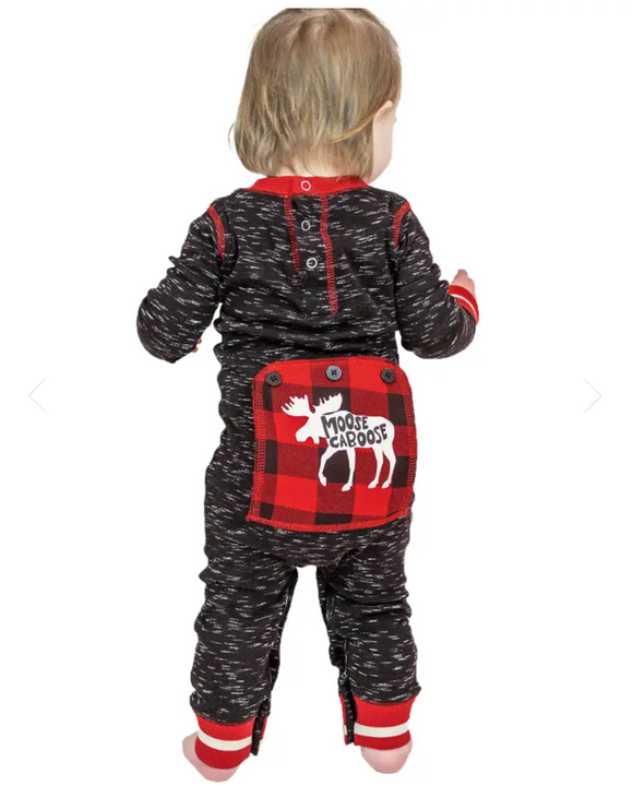 Lazy One Moose Caboose Infant Onesie Flapjack