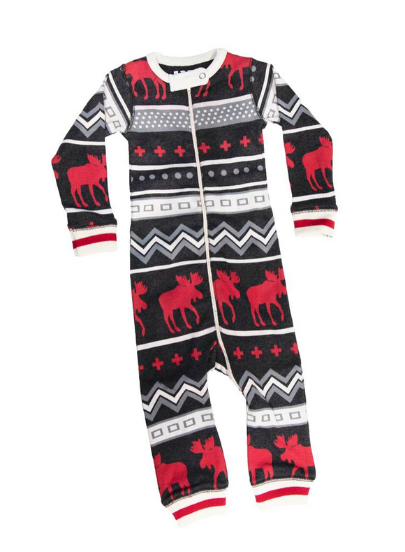 Lazy One Cabin Moose Unionsuit
