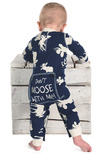 Lazy One Classic Moose Blue Infant Flapjack