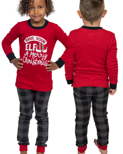 Lazy One Elf Kid PJ Set