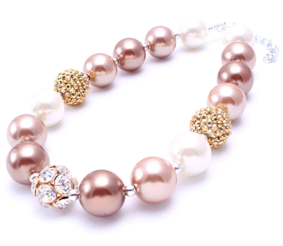Bubblegum Pearl Necklace - Rose Gold/Gold/Ivory