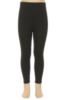 Girls Fleece Leggings - Black