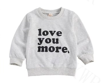 Love You More Pullover - Gray