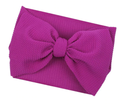 Bullet Large Bow Headwrap - Magenta