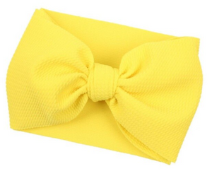 Oversized Headband Bow - Yellow
