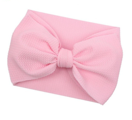 Large Bow Headwrap - Pale Pink