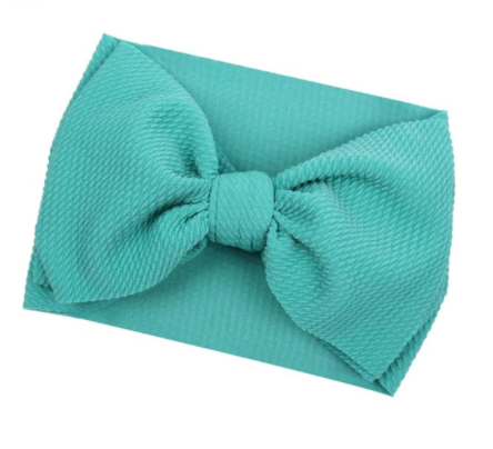 Large Bow Headwrap - Teal