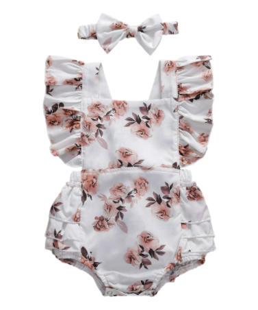 Emma Ruffle Romper with Headband