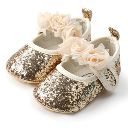 Gold Sparkle Baby Shoes
