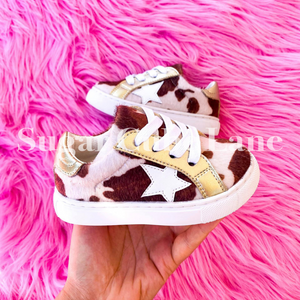 Toddler Cow Star Sneakers