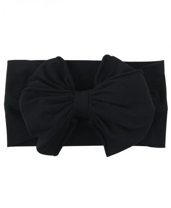 Black Big Bow Headband