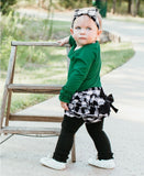 Black & White Plaid Bow Headband