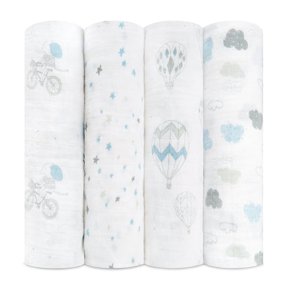 aden + anais Night Sky Reverie Muslin Swaddle - 4 pack