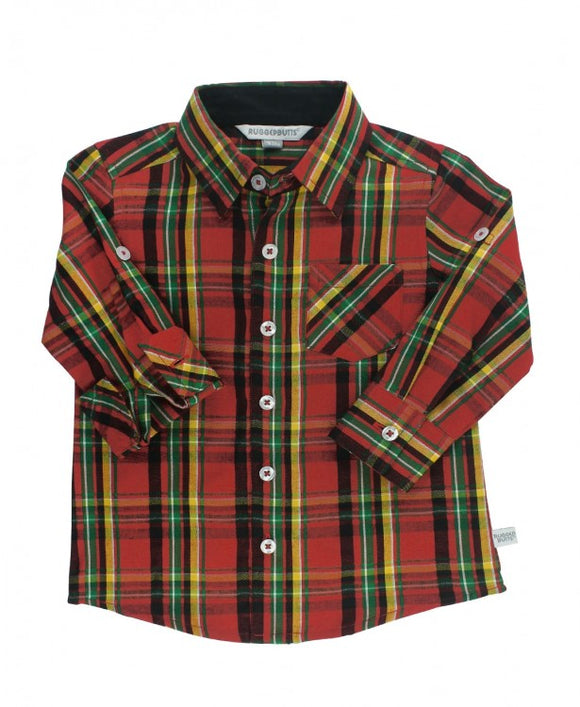 RuggedButts® Remington Plaid Button Down Shirt