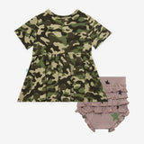 Posh Peanut - Cadet - Short Sleeve Henley Peplum Top & Bloomer Set