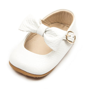 Baby Girls Mary Jane Flat Anti-Slip Rubber Sole Shoe - White