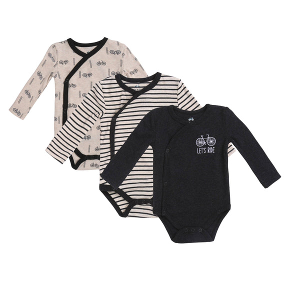 Asher and Olivia - 3 Pc Bicycle Kimono Bodysuit Set