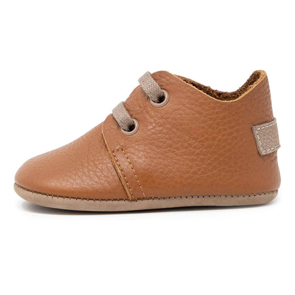 Oxford Baby Genuine Leather/Rubber Shoes - Taba