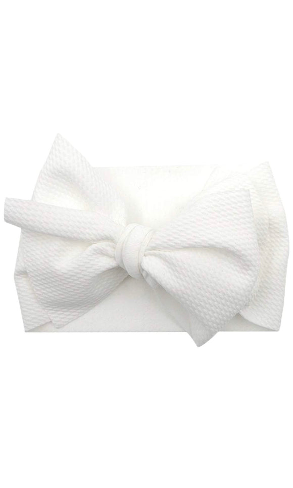 Oversized Headband Bow - White