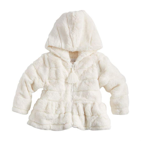 Mud Pie Ivory Fur Jacket