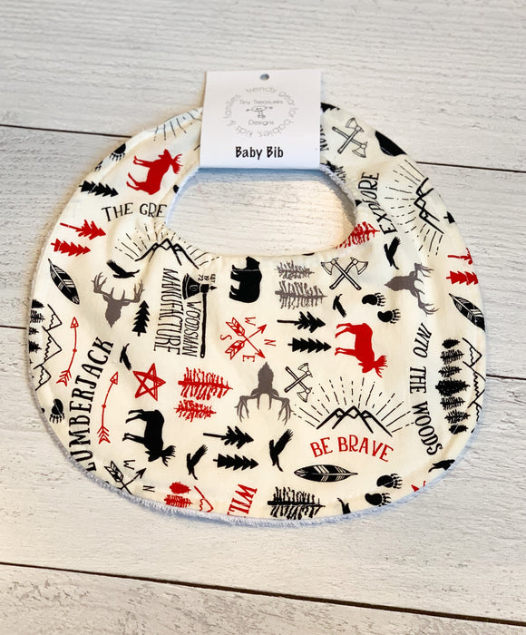Christmas Wilderness Baby Bib