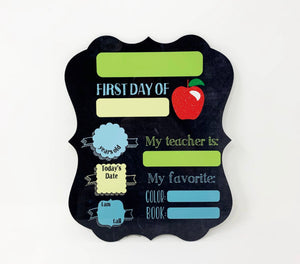 First Day if School Sign - Blue