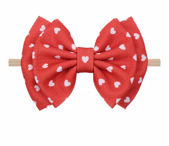 Red Valentine's Day Headband Bow