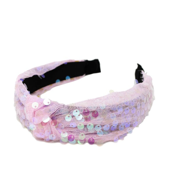 Sequin Hairband- Pink