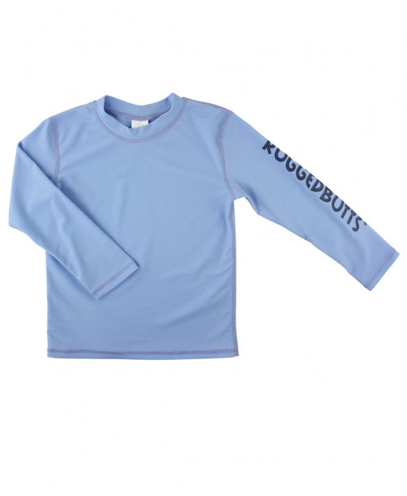 RuggedButts® Cornflower Blue Logo Long Sleeve Rash Guard