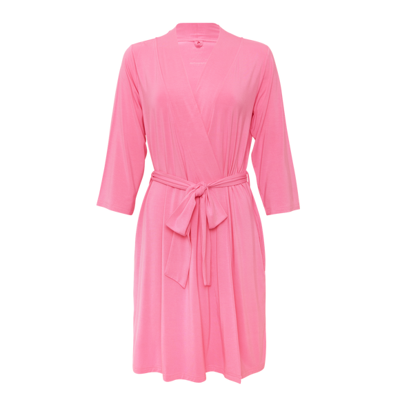 Posh Peanut - Solid Color - Pink Lemonade - Mommy Robe