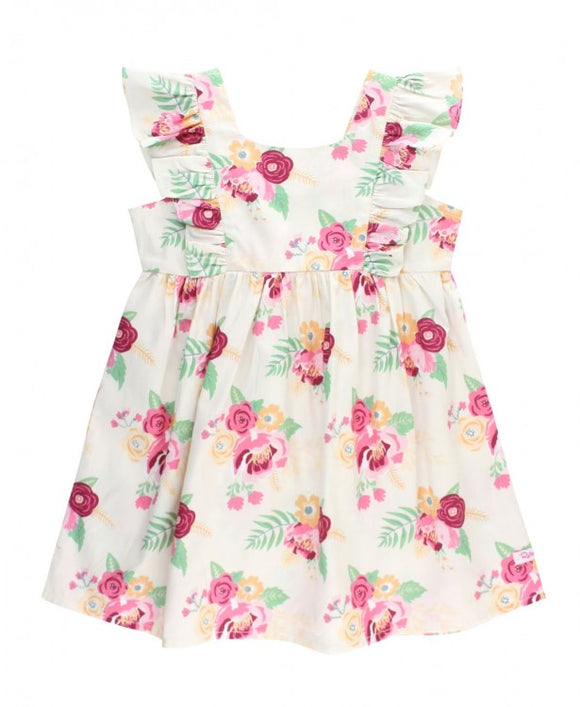 RuffleButts® Darling Bouquets Ruffle Dress