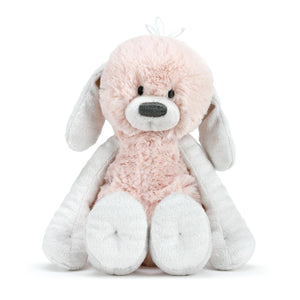 Polly Pink Puppy Rattle Plush Sitting