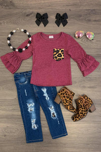 Cheetah Distressed Jeans